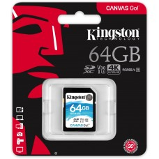 Kingston 64 Gt SD Canvas Go! UHS-I Speed Class 3 (U3) -muistikortti